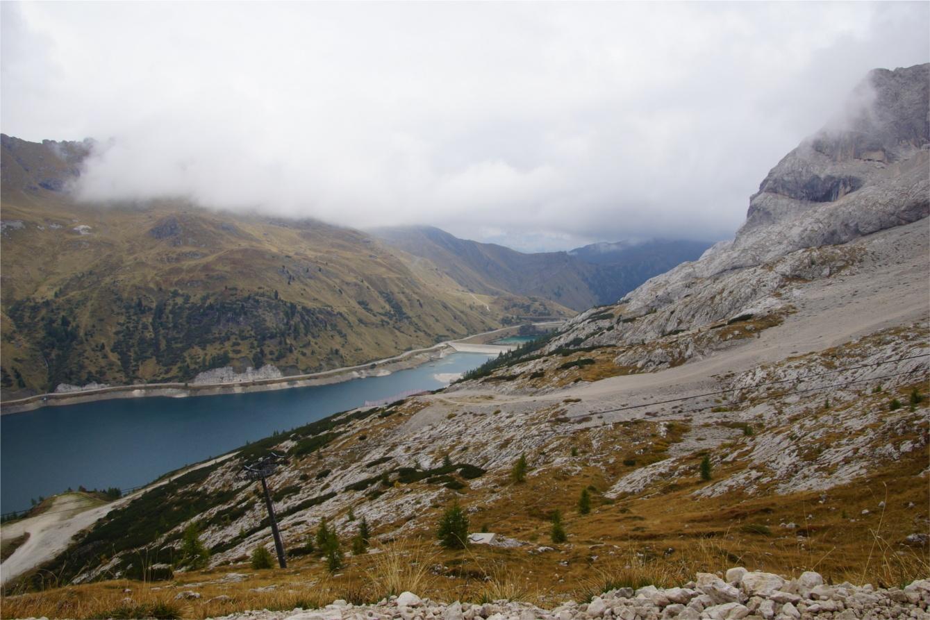 Dolomity - widok z Marmolady