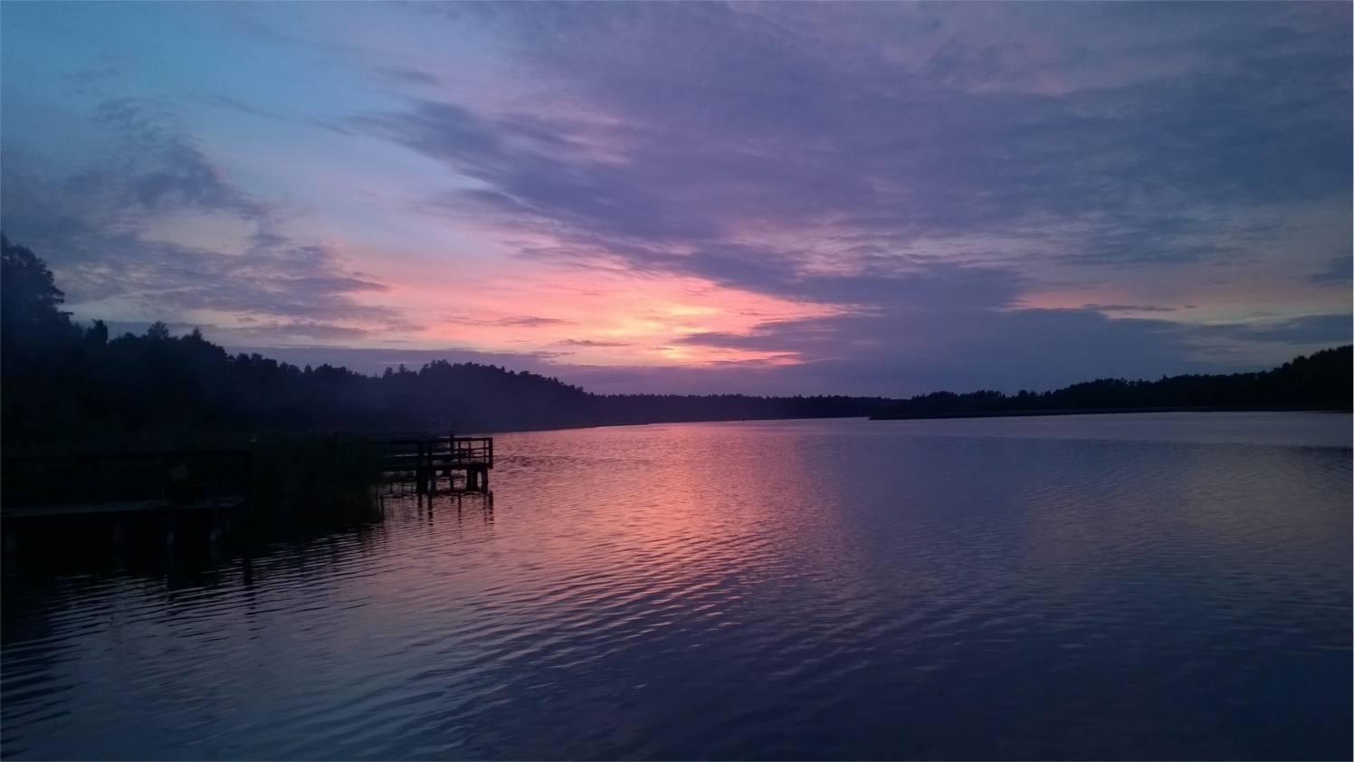 Hańcza - zachód słońca